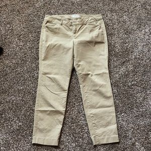 Tan old navy capris